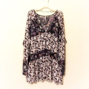 Free People Large Floral Top
